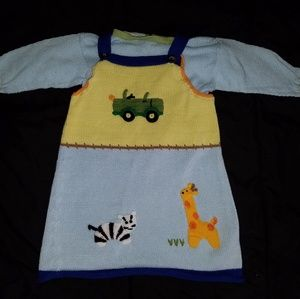 ZACKALI•4•KIDS Safari Knitted Dress w/ Shirt